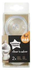 Tommee Tippee Closer to Nature 2 Fast Flow Teats 6 Months and +