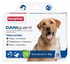 Beaphar Caniguard Line-On Medium Dog and Large Dog 6 Pipettes of 4ml