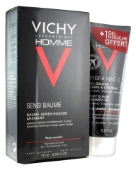 Vichy Homme Sensi-Soothing After Shave Balm 75 ml + Hydra Mag C Duschgel 100 ml Angebot