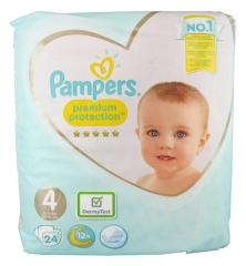Pampers Premium Protection 24 Nappies Size 4 (8-16kg)