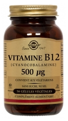 Solgar Vitamin B 12 500mcg 50 Vegetable Capsules