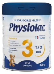 Physiolac Growth 3 From 1 to 3 Years 800g