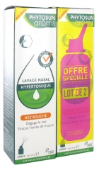 Phytosun Arôms Lavage Nasal Hypertonique Nez Bouché Spray Lot de 2 x 100 ml