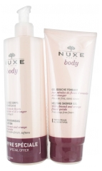 Nuxe Body Lait Fluide Corps Hydratant 24H 400 ml + Body Gel Douche Fondant 200 ml