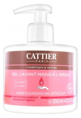 Cattier Gel Lavant Mains à l'Argile Parfum Rose & Abricot 300 ml