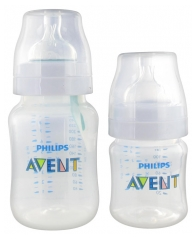 Avent Anti-Colic AirFree Ventil 2 Baby Bottles 125ml + 260ml 0 Month and +