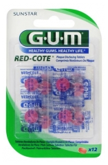 GUM Red Cote Dental Plaque Revealer 12 tablets