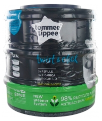 Tommee Tippee Recharge Poubelle à Couches Twist 3 Recharges