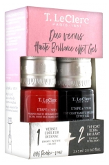 T.Leclerc Nail Enamel Duo High Brilliance Gel Effect 2 x 5ml