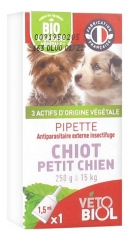 Vétobiol Pipette Puppy Small Dog 250g to 15kg 1 Pipette