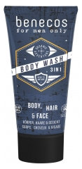 Benecos For Men Only Body Wash 3-in-1 Organic 200ml