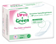 Love & Green for Bladder Leakage Toallas Hipoalergénicas Extra 10 Toallas