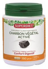 Super Diet Activated Coal Plant 150 Capsules