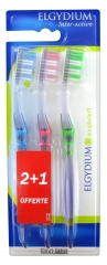 Elgydium Inter-Active Soft Toothbrush 2 Toothbrushes + 1 Free