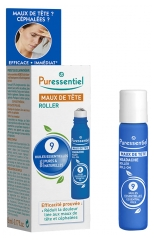 Puressentiel Headache Roller with 9 Essential Oils 5ml