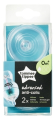 Tommee Tippee Advanced Anti-Colic 2 Slow Flow Teats 0 Month and +