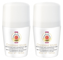 Roger & Gallet Déodorant Anti-Transpirant 48H Gingembre Rouge Lot de 2 x 50 ml