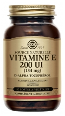 Solgar Vitamin E 200 UI (134mg) 50 Vegetable Capsules