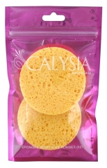 Calysia 2 Round Natural Cellulose Sponges