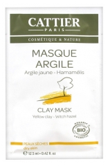 Cattier Yellow Clay Mask Dry Skin 12,50ml