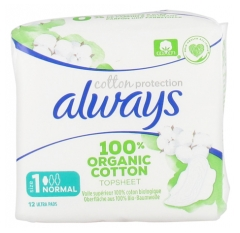Always Cotton Protection 12 Serviettes Hygiéniques Taille 1