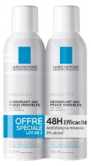 La Roche-Posay Déodorant Spray 48H Peaux sensibles Lot de 2 x 150 ml