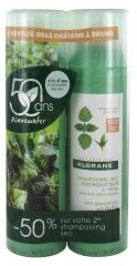 Klorane Dry Seboregulating Shampoo with Nettle Extract 2 x 150ml