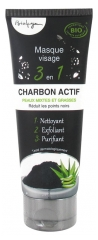 Bio4you 3 in 1 Face Mask Active Charcoal 100ml