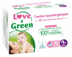 Love & Green Hypoallergenic Nappies 42 Nappies Size 4+ (9-20kg)