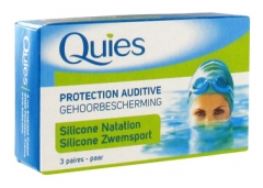 Quies Protection Auditive en Silicone Natation 3 Paires
