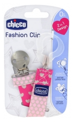 Chicco Ribbon Soother-Clipper 2-in-1 0 Month and +