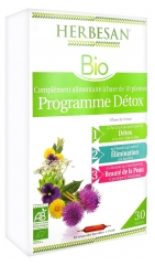 Herbesan Organic Detox Program 30 Phials of 15ml