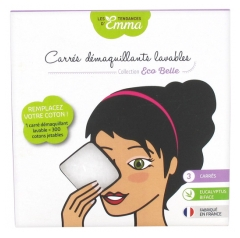 Les Tendances d'Emma Collection Eco Belle Washable Make-up Removal Square 3 Two-sided Eucalyptus Squares