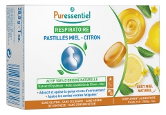 Puressentiel Respiratory Honey-Lemon Lozenges 18 Lozenges
