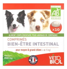 Vétobiol Organic Intestinal Well-Being for Medium and Big Dog (+15kg) 10 Tablets