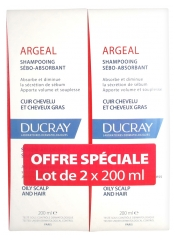 Ducray Argéal Shampooing Sébo-Absorbant Lot de 2 x 200 ml
