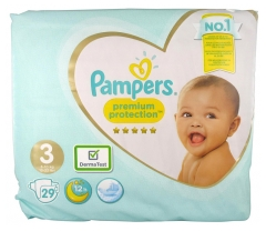 Pampers Premium Protection 29 Couches Taille 3 (6-10 kg)