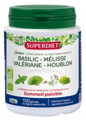 Super Diet Quatuor Organic Lemon Balm Peaceful Sleep 150 Capsules