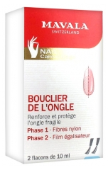 Mavala Nail Shield Reinforces And Protects Fragile Nails 2 x 10ml