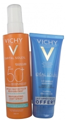 Vichy Capital Soleil Beach Protect Anti-Dehydration Spray SPF 50+ 200 ml + Idéal Soleil Suavizante Leche Para Después del sol 100 ml Disponible