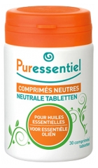 Puressentiel Essential Oil Neutral Tablets for Essential Oils 30 Tablets