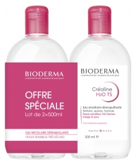 Bioderma Créaline TS H2O Solution Micellaire Démaquillante Lot de 2 x 500 ml