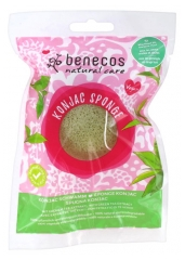 Benecos Natural Care Konjac Sponge with Green Tea Combination to Dry Skins