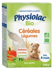 Physiolac Organic Cereals Vegetables From 4 Months 200g
