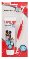 Beaphar Combi-Pack Toothpaste and Toothbrush for Dogs and Cats