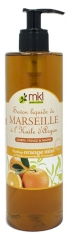 MKL Green Nature Savon Liquide de Marseille Huile d'Argan Orange Miel 400 ml