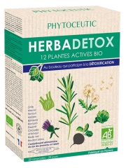 Phytoceutic Herbadetox 12 Plantes Actives Bio 20 Ampoules