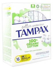 Tampax Cotton Protection Régulier 100% Coton Bio 16 Tampons