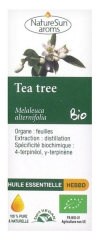 NatureSun Aroms Huile Essentielle Tea Tree (Melaleuca alternifolia) Bio 10 ml