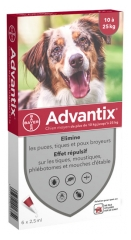 Bayer Advantix Medium Dogs 10-25 kg 6 x 2.5ml